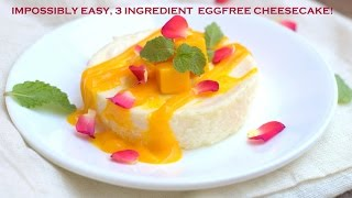 Subscribe for free here!  http://bit.ly/1SkwdvH. Tap on the bell to get email notifications on new uploads!Just 3 basic ingredients to make the easiest, quickest cheesecake you can bake! Delicious on its own chilled, you could serve it with a mango rum sauce to take it to the next level! The addition of cornstarch makes it a safe bet as it helps give it a firmer set. You could also bake in small ramekins and serve in them. Or bake a large cheesecake in a shallow round or rectangular pie tin. The baking time will vary accordingly. Play around, stir in some thick strawberry puree/orange/lime zest or anything else you please. Experiment with different fruit purees and toppings of your choice. You will regret not knowing this dessert earlier :)Yogurt cheesecake - Impromptu version shown in videoIngredients - for 4 servings Condensed milk -  3/4 cup/180ml  (I have used Amul Mithaimate)Full fat yogurt - 1 cup / 240 ml ( I have used Nestle A plus, do not use low fat)Cornflour / cornstarch - 1 tablespoon Vanilla extract - 1 teaspoonFlavor variations - Thick strawberry puree/plum puree  - 1 tablespoon, orange/lime zest, saffron, cardamom, vanilla bean, just make sure you serve it with a sauce which complements the flavor of the cheesecake.You will find plenty of similar recipes with varying proportions of condensed milk and yogurt. You could also try this variation with hung yogurt from Deeba Rajpal's blog. Both versions work great. The one shown in the video is something you can make on an impulse, making it a perfect 'emergency' dessert! Mango Rum Sauce Adapted from David Lebovitz(vary ingredients and proportions to taste and consistency needed)Mangoes, chopped - 1 cupSugar - 1 tablespoon Rum - 1 tablespoonLime juice - 1 tablespoonWater / coconut milk - 1/4 cup or more Watch more of my videos!Oven Related Videos - http://bit.ly/2eQgc27How To Choose An Oven, Compare an OTG and Convection Microwave, How To Preheat A Convection Microwave, How To Use A Convection Microwave, How To Use an OTG.Basic Bakeware, Tools & Gadgets - http://bit.ly/2eUveHBEssential Baking Tools - 1 , Essential Baking Tools 2, Basic Baking Pans -1, Basic Baking Pans-2, How To Measure A Baking Tin, How To Line A Square TinCake Icings / Frosting Recipes, Dessert Sauces - http://bit.ly/2eQ95qFEasy Chocolate Icing / Chocolate Ganache, Cocoa Fudge Frosting, Dulce de Leche In The Pressure Cooker,  Easy Butterscotch Sauce, Strawberry Sauce.Know your Baking Ingredients - http://bit.ly/1NnBW3UWatch a new video every Monday! Connect with me for updates on new videos!Facebook : http://on.fb.me/1lCxpjpGoogle Plus : http://bit.ly/1Xj5Sz7Work With Me : suma.rowjee@gmail.comBlog : http://www.cakesandmore.in/Instagram - @cakesandmoresumarowjeeTwitter - sumarowjee