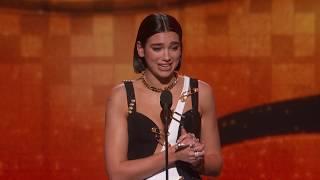 Dua Lipa Wins Best New Artist   2019 GRAMMYs Acceptance Speech
