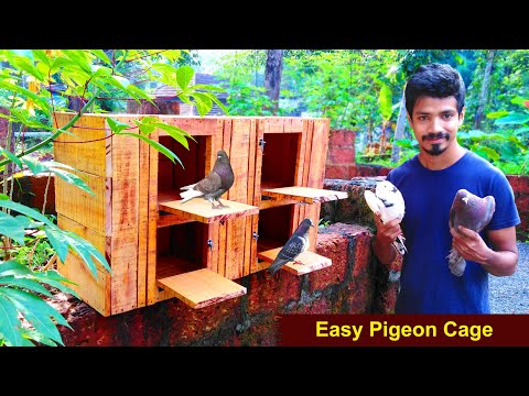 How To Make Pigeon Cage at Home Using Wood   Easy Way To Make Pigeon House