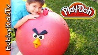 PLAY-DOH Surprise Giant Egg Angry Bird - Super Heroes, SpongeBob - Squinkies