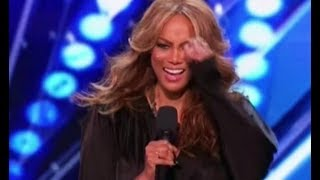 """After the auditions are over it's time to look back how TyTy is doing as an AGT host. How would she be as a judge?#talentshowsFor more HD full episode videos of America's Got Talent – please subscribe & follow» Get The America's Got Talent App: http://bit.ly/AGTApp» Subscribe for More: https://goo.gl/e12UJ8» America's Got Talent Returns Tuesday May 30 8/7c on NBC!» Watch Full Episodes Free: http://bit.ly/AGTFullEpisodesAMERICA'S GOT TALENT ON SOCIALLike AGT: https://www.facebook.com/agtFollow AGT: https://twitter.com/agtAGT Tumblr: http://nbcagt.tumblr.com/AGT Instagram: http://instagram.com/agtIn season 12, NBC's America's Got Talent follows Simon Cowell, Heidi Klum, Mel B and Howie Mandel in their talent search, showcasing unique performers from across the country. Find America's Got Talent trailers, full episode highlights, previews, promos, clips, and digital exclusives here. NBC ON SOCIALLike NBC: http://Facebook.com/NBCFollow NBC: http://Twitter.com/NBCNBC Tumblr: http://NBCtv.tumblr.com/NBC Pinterest: http://Pinterest.com/NBCtv/NBC Google+: https://plus.google.com/+NBCYouTube: http://www.youtube.com/nbcNBC Instagram: http://instagram.com/nbcABOUT AMERICA'S GOT TALENT With the talent search open to acts of all ages, """"America's Got Talent"""" has brought the variety format back to the forefront of American culture by showcasing unique performers from across the country. The series is a true celebration of the American spirit, featuring a colorful array of singers, dancers, comedians, contortionists, impressionists, jugglers, magicians, ventriloquists and hopeful stars, all vying for their chance to win America's hearts and the $1 million prize.America's Got Talent 2017https://goo.gl/e12UJ8America's Got Talenthttps://goo.gl/e12UJ8"""