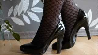 Snapshot #2 - Black High Heels With Fishnet Stockings