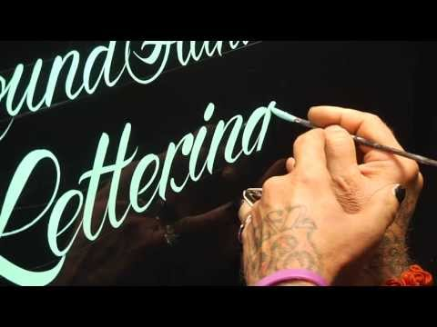 Roundhand Lettering Demo