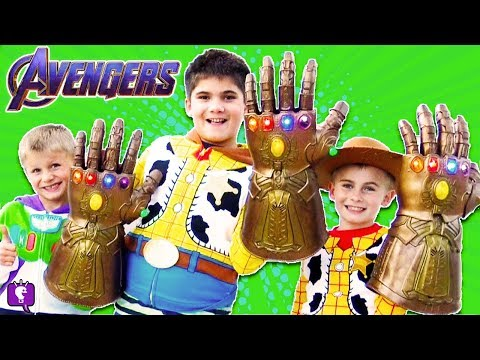 3 AVENGERS GAUNTLETS CHALLENGE! THANOS GLOVE Toy Play REVIEW By HobbyKidsTV