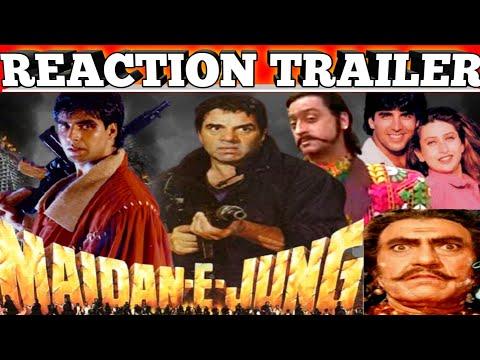 Maidan E Jung 1995 Trailer|Reaction|Full Action Drama|Dharmendra/Akshay Kumar/Karishma Kapoor