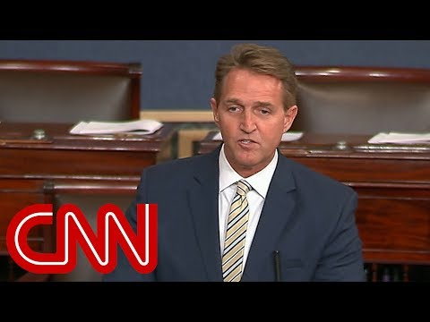 Jeff Flake: Trump battered and abused the truth