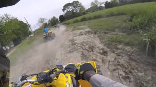 4. 2016 yfz 450r se can am renagade riding with the Kids trail riding