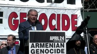 Interview with Senator Robert Menendez at 101th Commemoration of Armenian Genocide in NY 2016