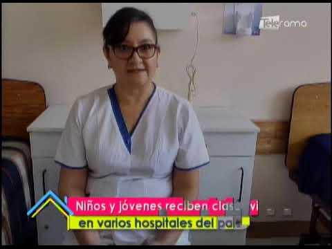 Niños y jóvenes reciben clases virtuales en varios hospitales del país