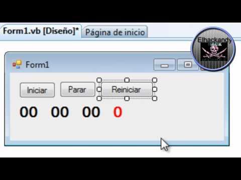 Crear cronometro con visual basic 2008