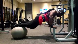 Advanced Elevated Push Ups On An Exercise Ball