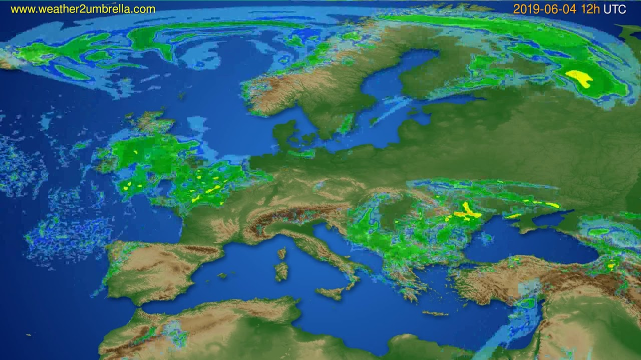 Radar forecast Europe // modelrun: 00h UTC 2019-06-04