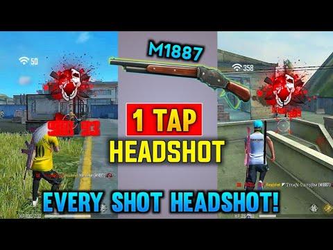 1 tap headshot secret trick 😱    about you don't know   m1887 headshot trick   Garena free fire