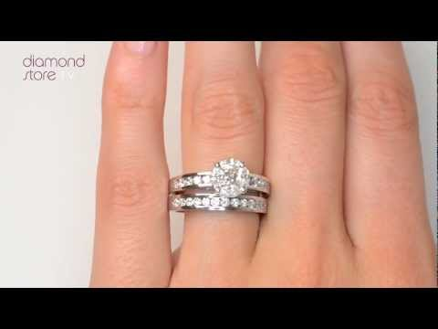 Galileo Set Diamond 2.00ct 1.46ct And Platinum 2 Ring Bridal Set - SDN3223
