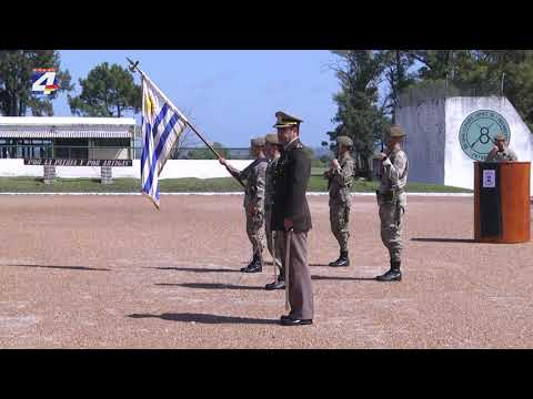 Ceremonia de incineración de pabellones deteriorados y Jura de la Bandera en el Batallón
