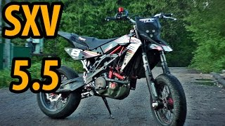 7. Aprilia SXV 550 обзор и те�тдрайв \ review and test drive