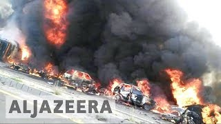 At least 145 people have been killed in eastern Pakistan after an oil tanker crashed and exploded The vehicle overturned before catching fire near the city of ...