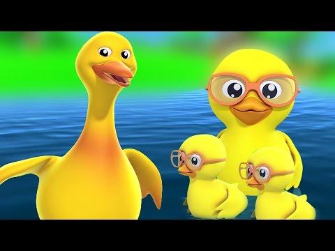 Fünf kleine Enten | Kinderlieder | Baby Reime | Nursery Rhyme Songs | Five Little Ducks Rhyme
