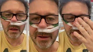 Andrzej Piaseczny dusi się w szpitalu i prowadzi transmisje – ma CoVid