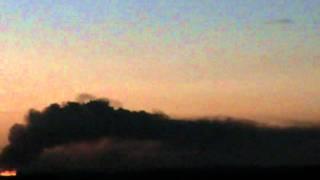Pôr do Sol e queimada -- sunset visible from João Pessoa (time-lapse) - October 09, 2011