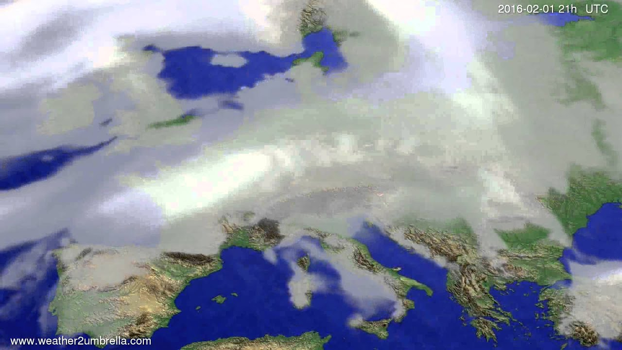 Cloud forecast Europe 2016-01-29