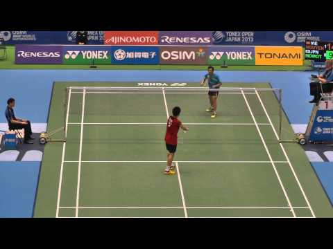 Badminton MS Nguyen vs 桃田賢斗 2G-2 Yonex Open Japan 2013.9.19
