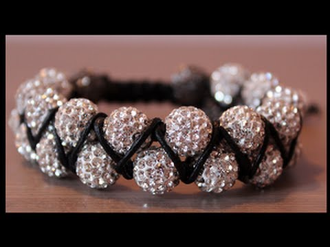 DIY Double beaded shamballa bracelet