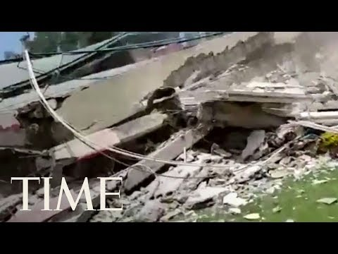 Rescuers Search For Survivors At Elementary School Destroyed By Mexico City Earthquake | TIME