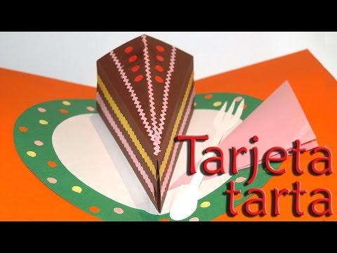 COMO HACER UNA TARJETA POP UP TARTA - CAKE CARD POP UP (OPCION 2) DIY