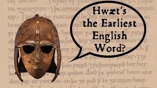 """We're looking for the earliest surviving written English word--is it in Anglo-Saxon manuscripts, on artifacts from the migration period, or in Latin?For more on the Anglo-Saxon invasion of England, take a look at my collaboration with Jabzy for his 3-Minute History series: https://youtu.be/GKAsQXpRHukSOURCES AND CREDITS: http://www.alliterative.net/englishFor further explorations of these subjects, check out Thorneloe University's courses in the Humanities, including """"Greek and Latin Roots of English"""" and other Ancient Studies courses, online and on campus in Sudbury, Ontario. http://www.thorneloe.ca/endlessknotThank you to all our Patreon supporters, and especially to Talk the Talk Podcast & ShigityShank! Please check out our Patreon: https://www.patreon.com/TheEndlessKnotEndless Knot merchandise can be found in our store: http://www.cafepress.ca/endlessknotTranscript: http://www.alliterative.net/english-transcriptRelated blog post: http://www.alliterative.net/blog/2017/5/23/fishhooks-and-swordsWebsite: http://www.alliterative.net/Blog: http://www.alliterative.net/blogTwitter: https://twitter.com/alliterativeFacebook: https://www.facebook.com/alliterativeendlessknotGoogle Plus: https://plus.google.com/115113245513532543153/aboutTumbler: http://alliterative-endlessknot.tumblr.com/SoundCloud: https://soundcloud.com/alliterativePodcast: http://www.alliterative.net/podcast or https://itunes.apple.com/ca/podcast/endless-knot-podcast-endless/id1016322923?mt=2Click here to sign up for our video email list, to be notified when new videos are posted: http://eepurl.com/6YuJvClick here to sign up for our podcast email list, to be notified when new podcast episodes go up: http://eepurl.com/btmBZT"""