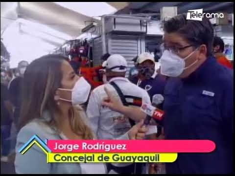 Operativo de control de normas de bioseguridad en la Bahía de Guayaquil