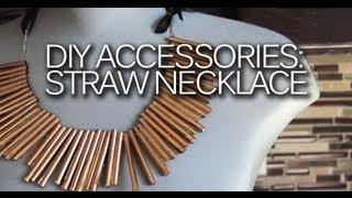 DIY: Statement Straw Necklace Tutorial - YouTube