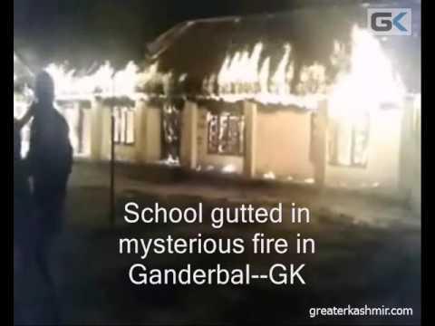 School gutted in mysterious fire in Ganderbal