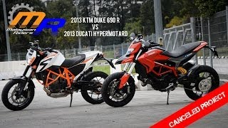 10. 2013 Ducati Hypermotard vs 2013 KTM Duke 690 R: Canceled Project