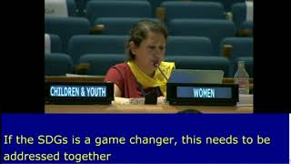 Sehnaz Kiymaz's intervention at the General Debate,  HLPF 2016: http://webtv.un.org