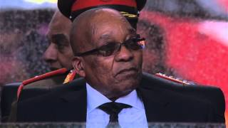 Jacob Zuma booed at Nelson Mandela memorial - video