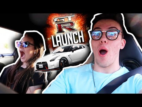 MY LITTLE SISTER REACTS TO GTR LAUNCH!!