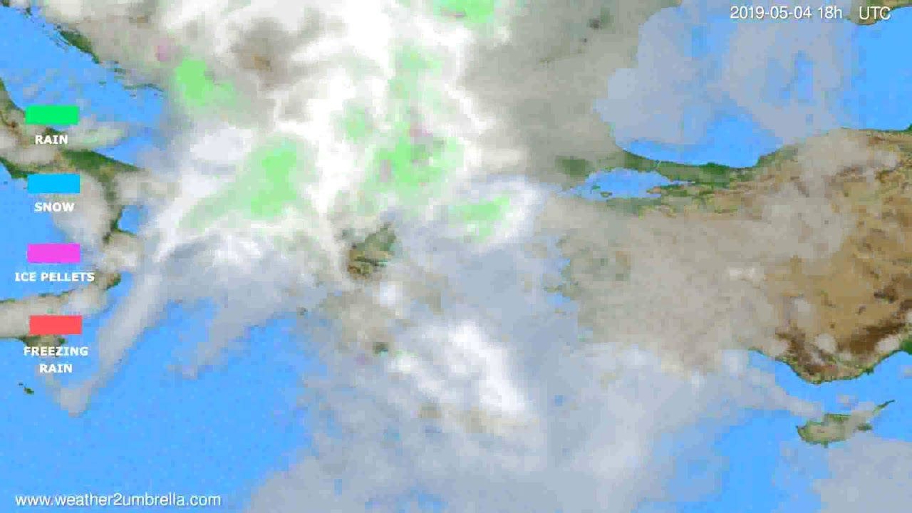 Precipitation forecast Greece // modelrun: 00h UTC 2019-05-02