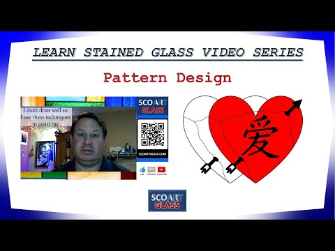 Learn Stained Glass Video Series - Pattern Design: Different ways to develop patterns yourself