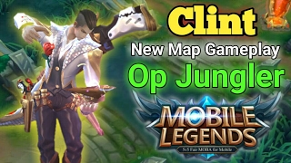 Mobile Legends : Clint jungle on New Map😱😱😱 Clint Build and Gameplay on Smurf Account. Clint Quad Kill :D Thanks for watching!And Remember to Like and Subscr...