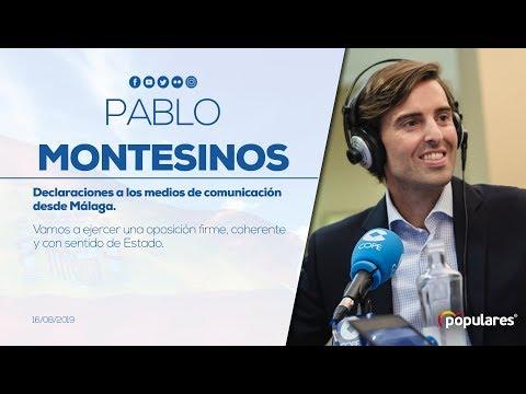 """Montesinos: """"Vamos a ejercer una oposición firme, coherente y con sentido de Estado"""""""