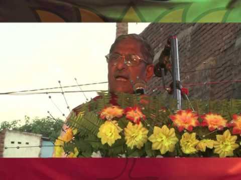 Nand Kishore Yadav campaigning during Parivartan Yatra in Bihar