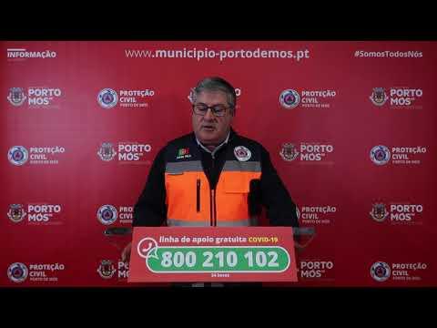 Comunicado Presidente da Câmara Municipal de Porto de Mós - COVID-19 - 05-04-2020
