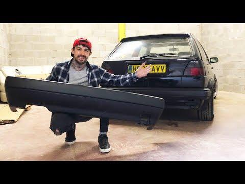 BIG BUMPERS   VW MK2 GOLF RESTORATION