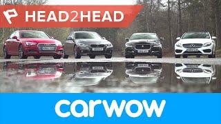 audi a4 vs mercedes cclass vs bmw 3 series vs jaguar xe review which is best?