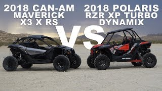 10. 2018 Polaris RZR XP Turbo Dynamix VS Can Am Maverick X3 X RS