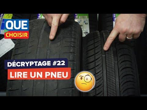 Comment lire un pneu - D�cryptage