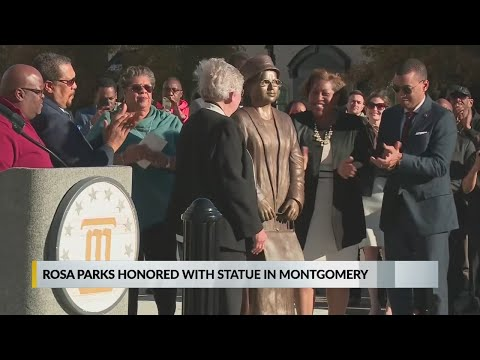 Rosa Parks honored with statue