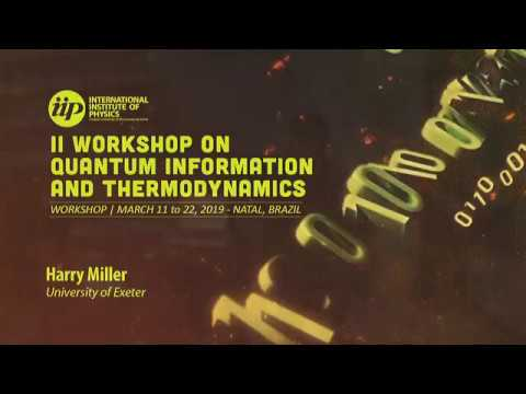 Skew information, fluctuations and dissipation in quantum thermodynamics - Harry Miller