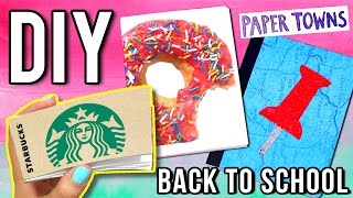 DIY NOTEBOOKS: STARBUCKS Notepad, Paper Towns & More! ♥ Back to School - YouTube